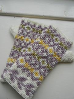 Autumn Diamonds Fingerless Mitts - Tutorial Part I