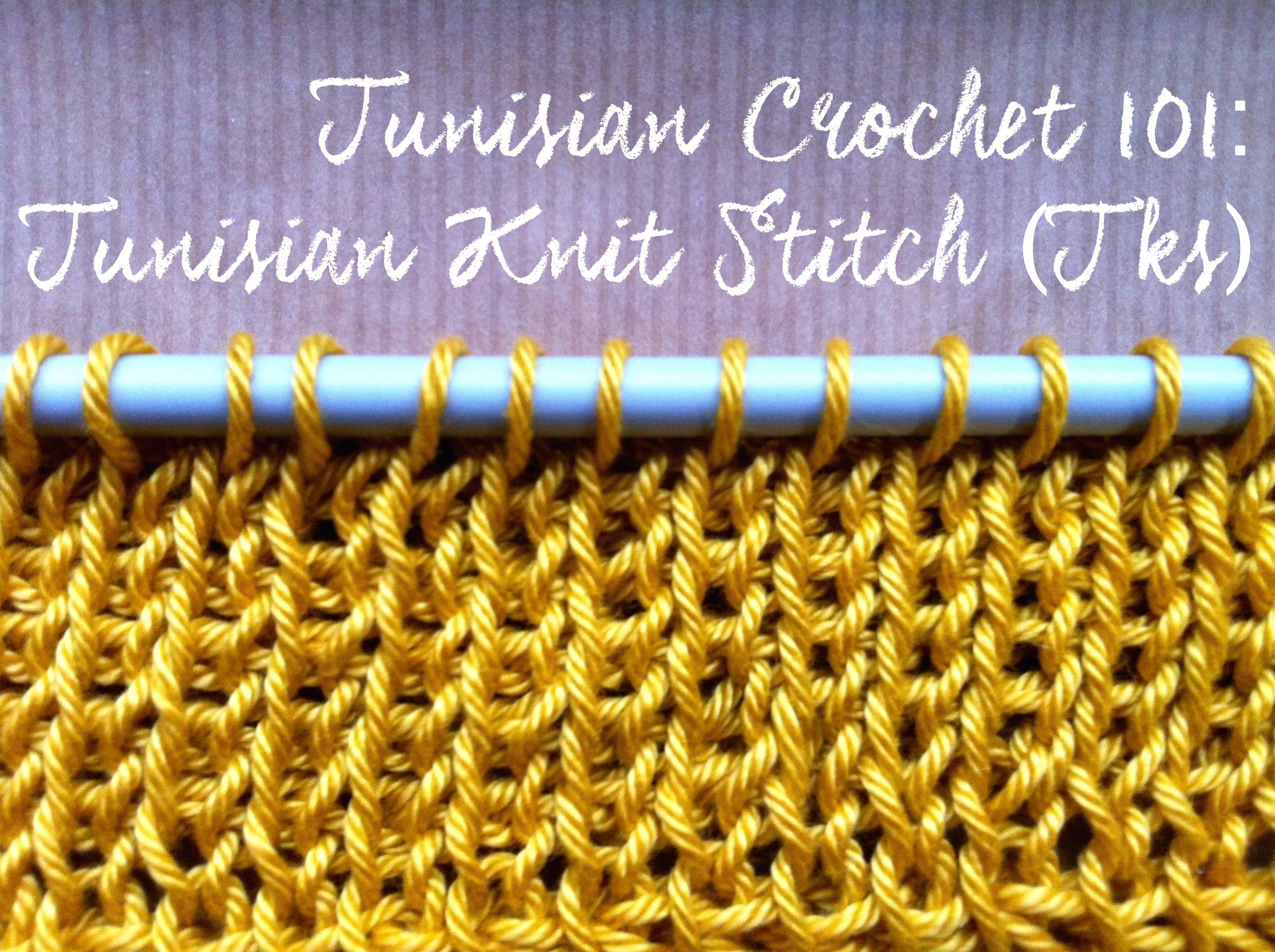 Tunisian Crochet 101: Tunisian Knit Stitch (Tks) | a crochet journey