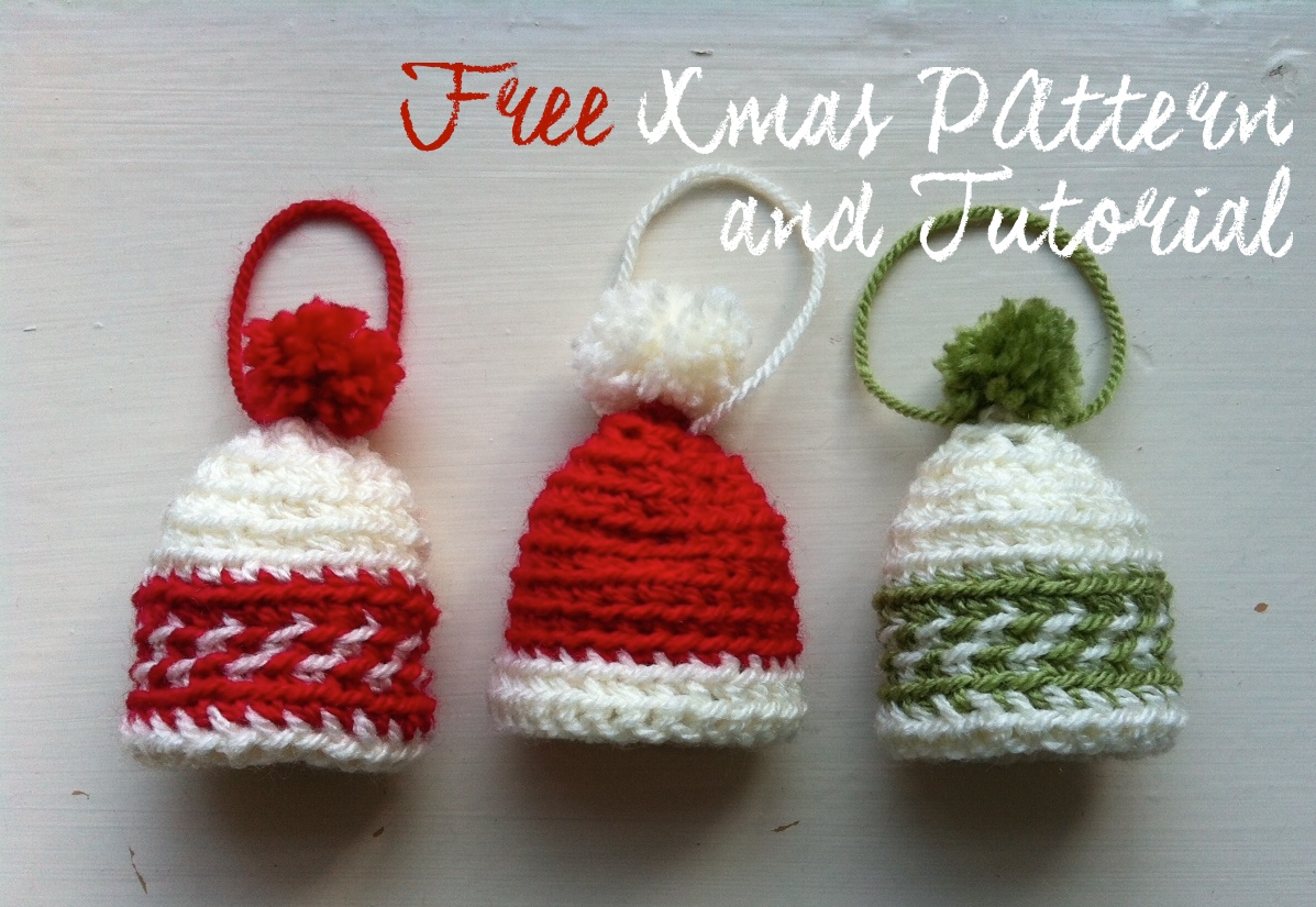 Free Xmas Pattern and Tutorial: Mini Fair Isle Hats | a crochet journey